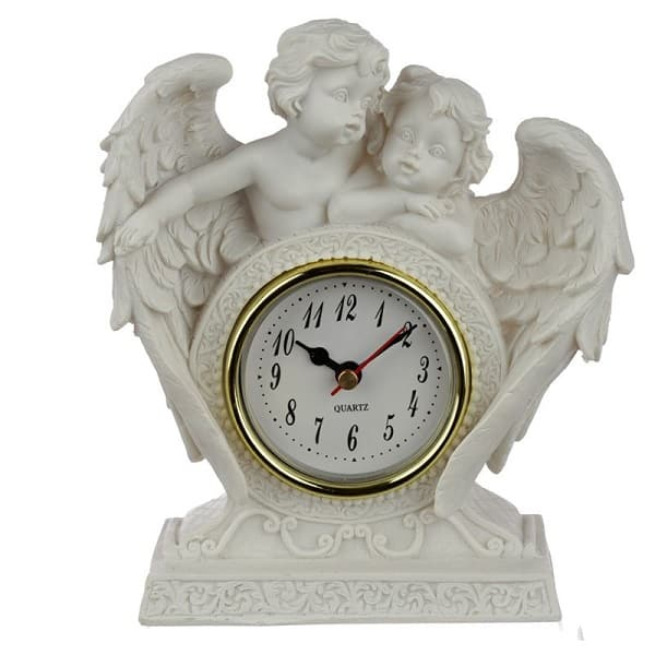 Kaminuhr Engel Pärchen Liebe, 18cm